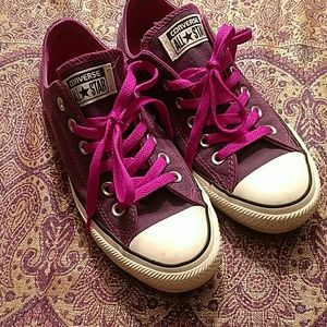 Converse ALL ⭐STAR purple sneakers, size 7